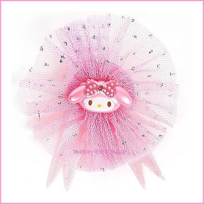 asdfkitty可愛家~美樂蒂亮片粉色別針~瞬間變身可愛公主歐~