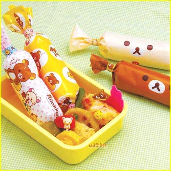 asdfkitty可愛家☆懶懶熊/拉拉熊.懶妹小雞長條飯糰包裝紙-也可包吐司麵包-日本製