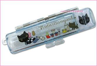 asdfkitty可愛家☆日本進口san-x靴子貓印章盒-灰色穿圍群-有印泥歐-日本正版商品全新