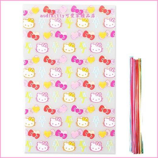 廚房【asdfkitty】KITTY名牌風版平口包裝袋M號10入-食品等級原料-日本製