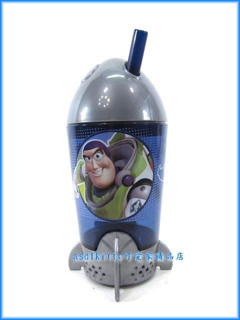 asdfkitty可愛家☆賠錢出清特價 玩具總動員火箭造型吸管杯/學習杯-韓國版正版商品