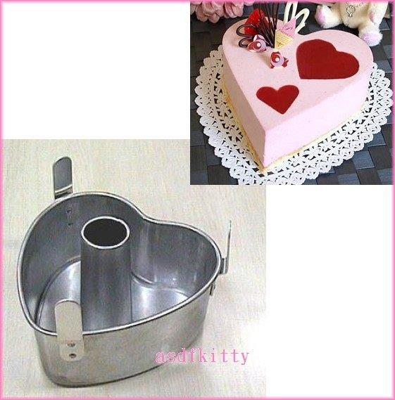 asdfkitty可愛家☆CAKELAND愛心中空蛋糕模型-活動-14公分SD-BMS105T國際牌製麵包機可用-日本製