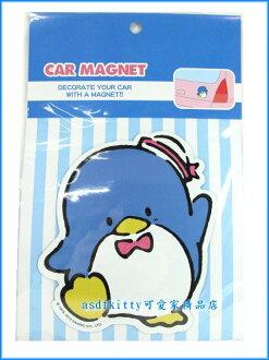 家用【asdfkitty可愛家】山姆企鵝車用裝飾磁鐵/汽車.機車.冰箱.微波爐.電腦主機都可貼