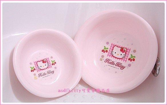 衛浴【asdfkitty可愛家】KITTY洗臉盆-亮草莓版-小的下標頁-韓國製-可洗貼身衣物歐