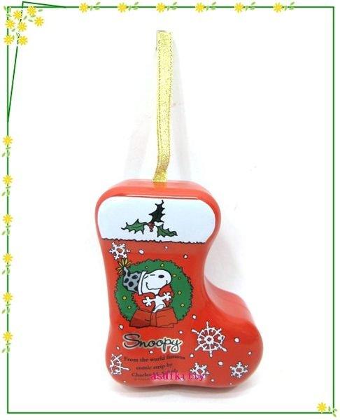 家用【asdfkitty】史努比聖誕樹掛飾/幸運星星收納鐵盒-可放神祕小禮物或祝語紙條-日本製