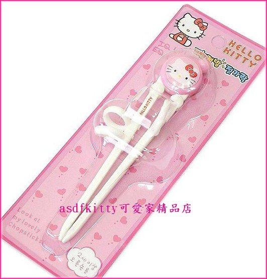 嬰童用品【asdfkitty可愛家】KITTY右手用三點式兒童學習筷-前端加大好夾取-韓國製