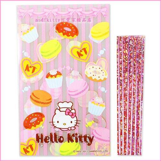 廚房【asdfkitty】KITTY點心版平口包裝袋S號10入-食品等級原料-日本製