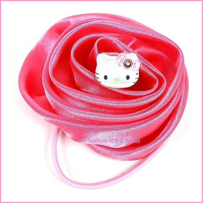 嬰童用品【asdfkitty可愛家】KITTY立體玫瑰花 髮束-大又顯眼-