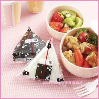 asdfkitty可愛家☆日本msa音符三角御飯糰包裝紙-自己做乾淨衛生口味多-日本製