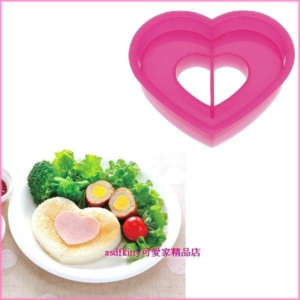 廚房【asdfkitty】大小愛心吐司壓模-蛋糕.起司.火腿都可壓-也可做餅乾歐-日本製