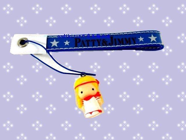 asdfkitty可愛家☆PATTY&JIMMY 包包掛飾/手機吊飾-1999年出的絕版商品-日本製