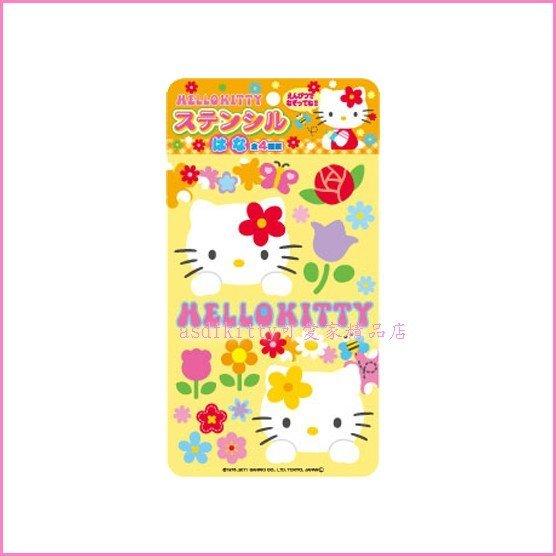 asdfkitty可愛家☆kitty-花朵下標頁-畫板/繪圖板玩具-日本正版商品