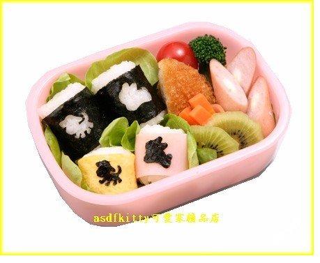 廚房【asdfkitty】日本進口-海苔打洞器-幸福兔+頑皮狗-裝飾便當-壽司三明治的好幫手