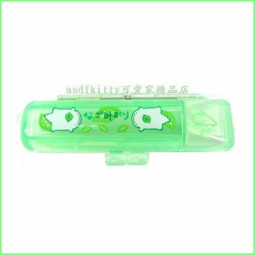asdfkitty可愛家~ SAN~X果凍綠印章盒~有印泥歐~