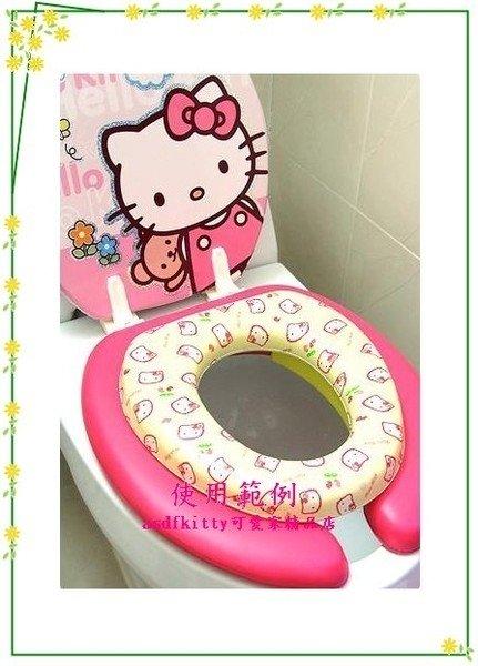 衛浴【asdfkitty可愛家】KITTY兒童馬桶座/馬桶墊-輔助便器-黃草莓版~韓國製