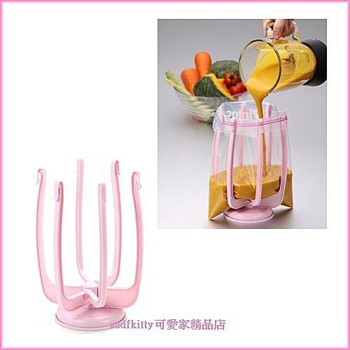 asdfkitty可愛家☆日本tigercrown食物分裝架/曬乾架-可曬寶特瓶.塑膠袋.方便回收再利用-日本製