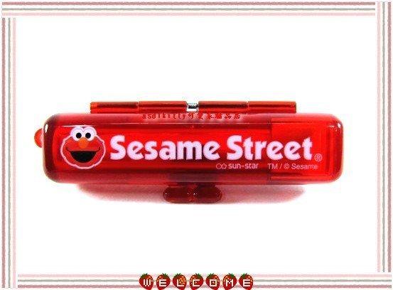 asdfkitty可愛家~芝麻街ELMO印章盒~紅色~有印泥歐~