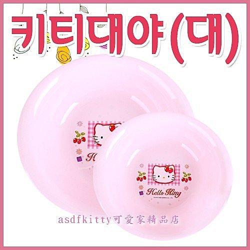 衛浴【asdfkitty可愛家】KITTY洗臉盆-亮草莓版-大的下標頁-韓國製-可洗貼身衣物歐