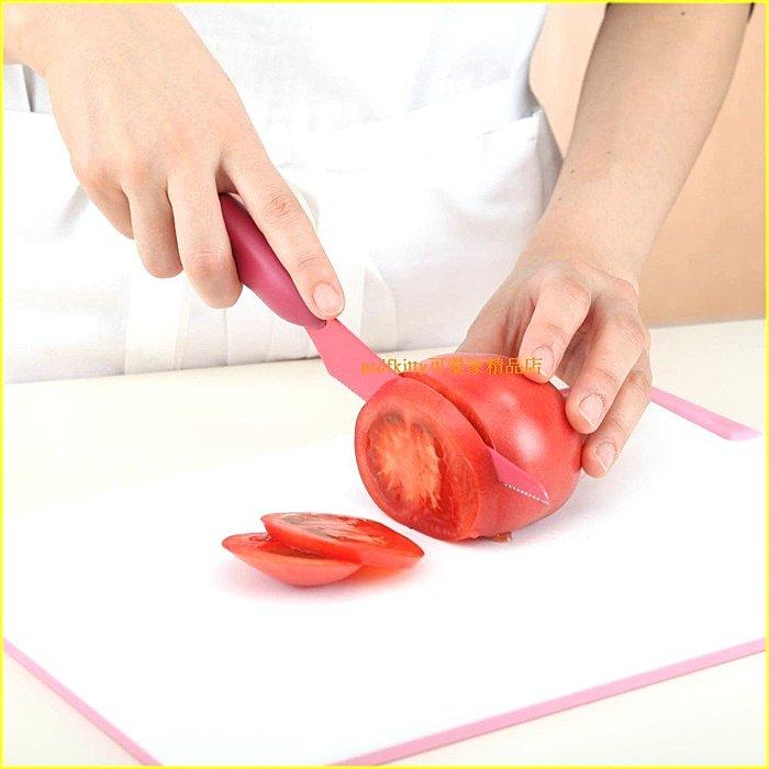 廚房【asdfkitty】 貝印切蕃茄刀/薄刃鋸齒水果刀-不易流湯汁-日本正版商品