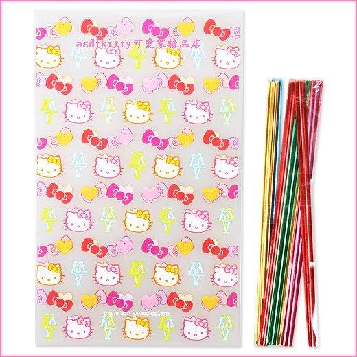 廚房【asdfkitty】KITTY名牌風版平口包裝袋S號10入-食品等級原料-日本製