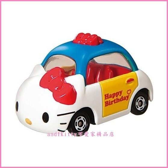個人【asdfkitty】KITTY 多美小汽車 40週年版-特別限定版Dream TOMICA TM80633-日本正版