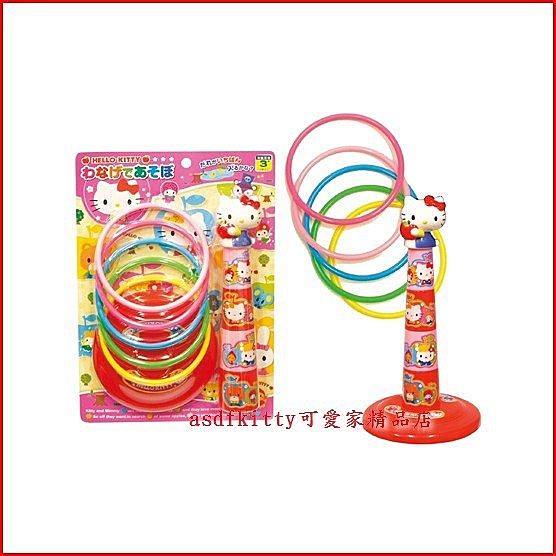 個人【asdfkitty】KITTY紅蘋果套圈圈遊戲組/套圈圈玩具-日本正版商品