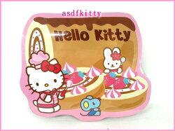 廚房【asdfkitty】KITTY小廚師木製軟木塞鍋墊/隔熱墊/裝飾板-香港版正版全新