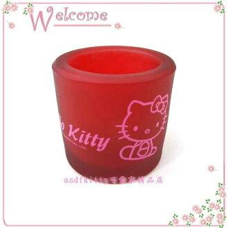 asdfkitty可愛家☆kitty玻璃燭台/蠟燭架2006年絕版商品-歐美正版商品