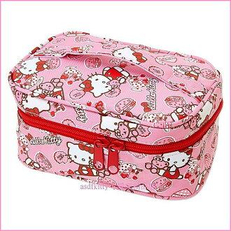 asdfkitty可愛家☆KITTY小熊版外出用濕紙巾收納袋/化妝包-日本正版