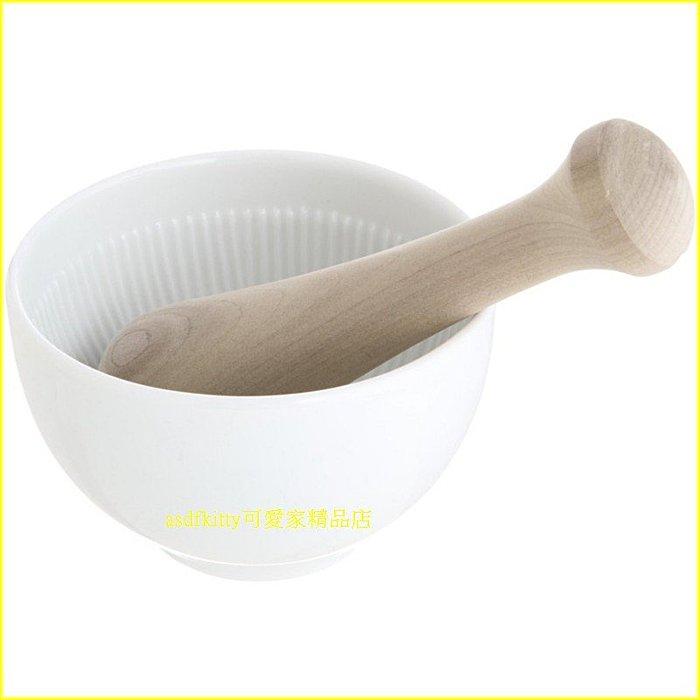 廚房【asdfkitty】貝印SELECT 100陶瓷研磨器含木棒-磨副食品.芝麻..-日本製