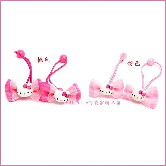 個人【asdfkitty可愛家】kitty亮面蝴蝶結髮束/髮飾/髮圈(KL-168)-分售-韓國正版商品