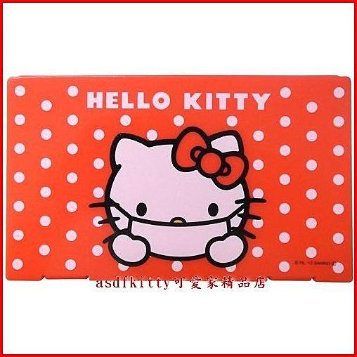 asdfkitty可愛家☆kitty紅點版口罩收納盒-幼兒園.隨身攜帶.抗菌處理.乾淨-日本正版商品