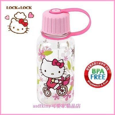 廚房~asdfkitty~kitty腳踏車直飲水壺260ML~隨身攜帶~幼兒園學習杯~不含