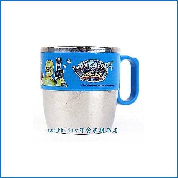 廚房【asdfkitty】特攝英雄金剛戰士獸拳戰隊不鏽鋼杯/馬克杯-無毒環保餐具-韓國製