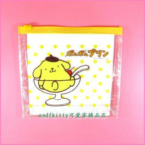 asdfkitty可愛家☆布丁狗 小物收納袋/夾錬袋/拉錬袋-日本正版商品