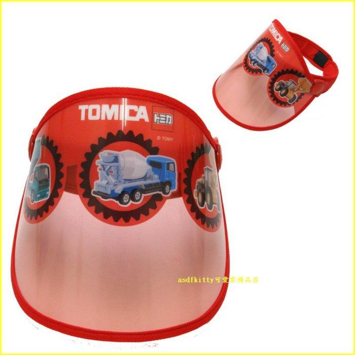 asdfkitty可愛家☆TOMICA 遮陽帽-大人小孩都可戴-頭圍50到60公分-可調整-日本正版商品