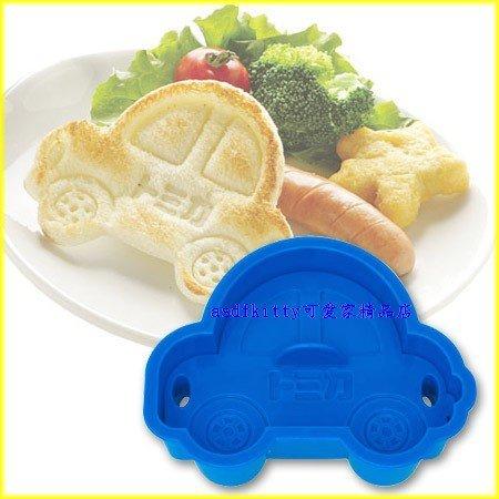 asdfkitty可愛家☆TOMICA小汽車吐司壓模型-鬆餅.火腿.麵包蛋糕都可壓-做餅乾 飯糰-日本製