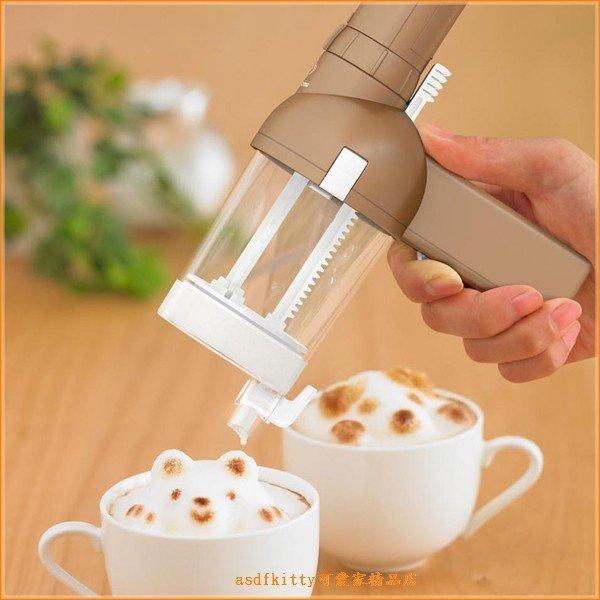 asdfkitty可愛家☆日本TAKARA TOMY立體咖啡拉花遊戲組/造型奶泡機-日本正版商品