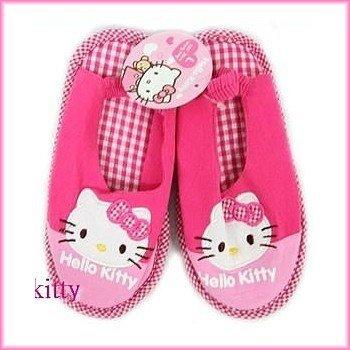 asdfkitty可愛家☆KITTY室內鞋L號20公分-粉色下標頁-鬆緊帶穿的期間比較久歐-韓國版