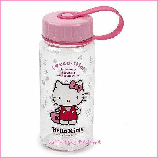 asdfkitty可愛家☆kitty樂扣樂扣直飲水壺-拿提包-400ML-不含雙酚A-韓國正版