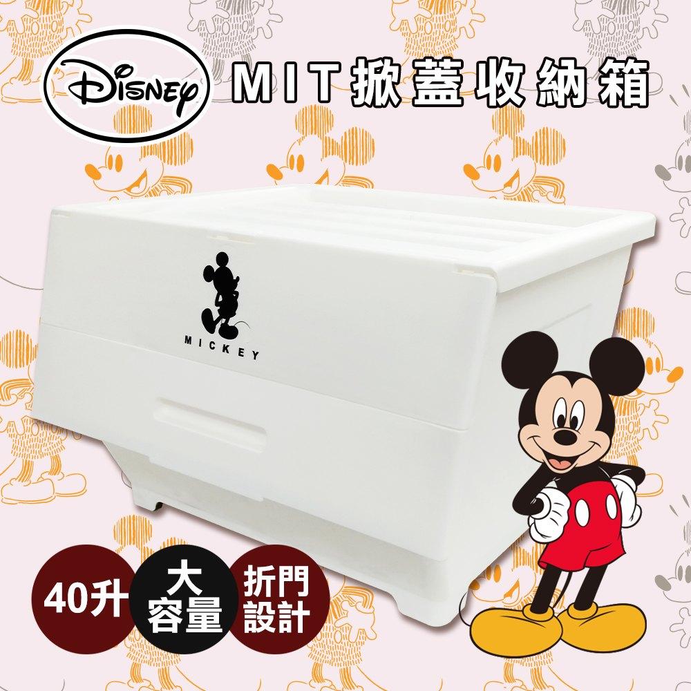 迪士尼兩折掀蓋收納箱(40L / 4入組) 0