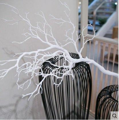 知根家居裝飾品仿真樹枝設計材料影樓裝飾假花落地仿真樹枝