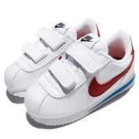 Shoestw【904769-103】NIKE CORTEZ BASIC TDV 阿甘鞋 皮革 黏帶 白紅藍 小童鞋 0