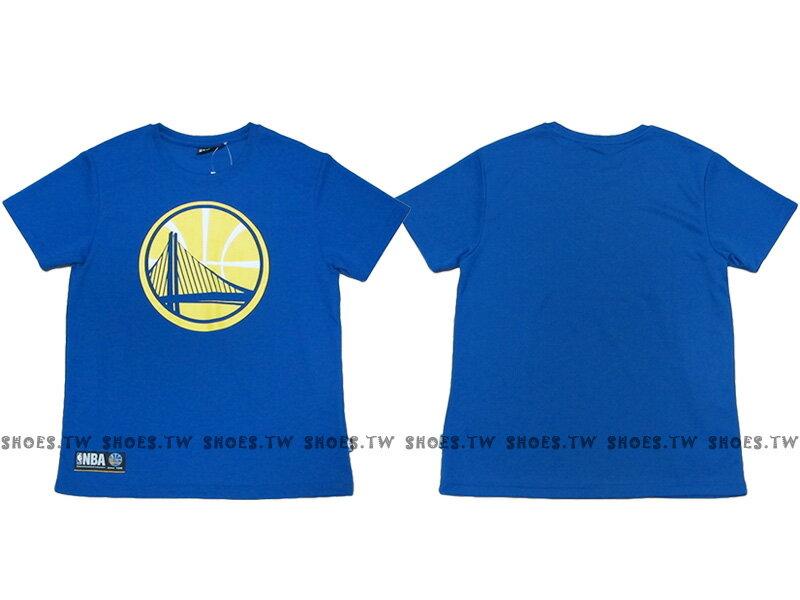 《換季折扣》Shoestw【8630236-023】NBA 排汗T恤 金州 勇士隊 透氣布 快速排汗 藍色