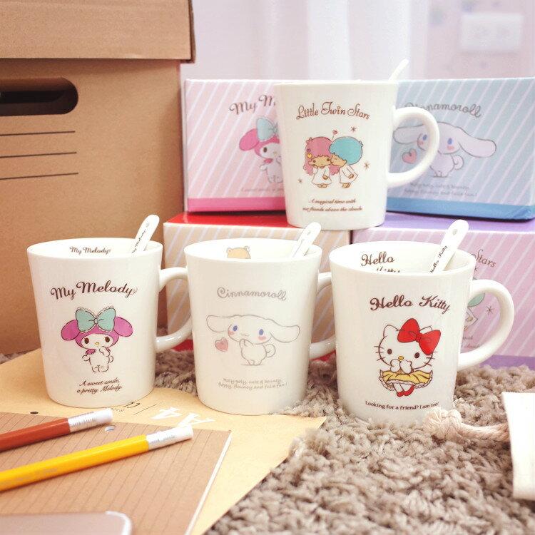 PGS7 日本三麗鷗系列商品 - 日貨 三麗鷗 午茶杯 組合 咖啡杯 馬克杯 Kitty 雙子星【SE2A7793】 - 限時優惠好康折扣