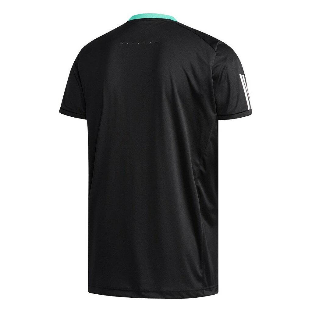 ADIDAS 18SS 男款 短袖 網球T恤 CLUB 3S TEE系列 CF7977 黑色【樂買網】