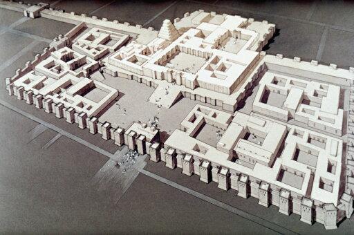 Palace At Khorsabad Nreconstruction Of The Palace At Khorsabad Of King Sargon Ii Of Assyria 721-705 BC Poster Print by (24 x 36) b992ecd505608a93254cf6b328bff0ae