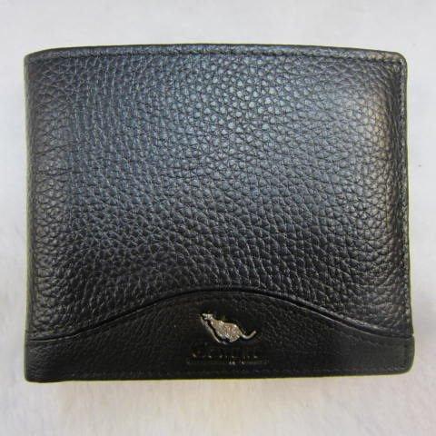 ~雪黛屋~Cougar 美國專櫃 男用短型皮夾 進口牛皮 標準尺寸 CG6503 黑