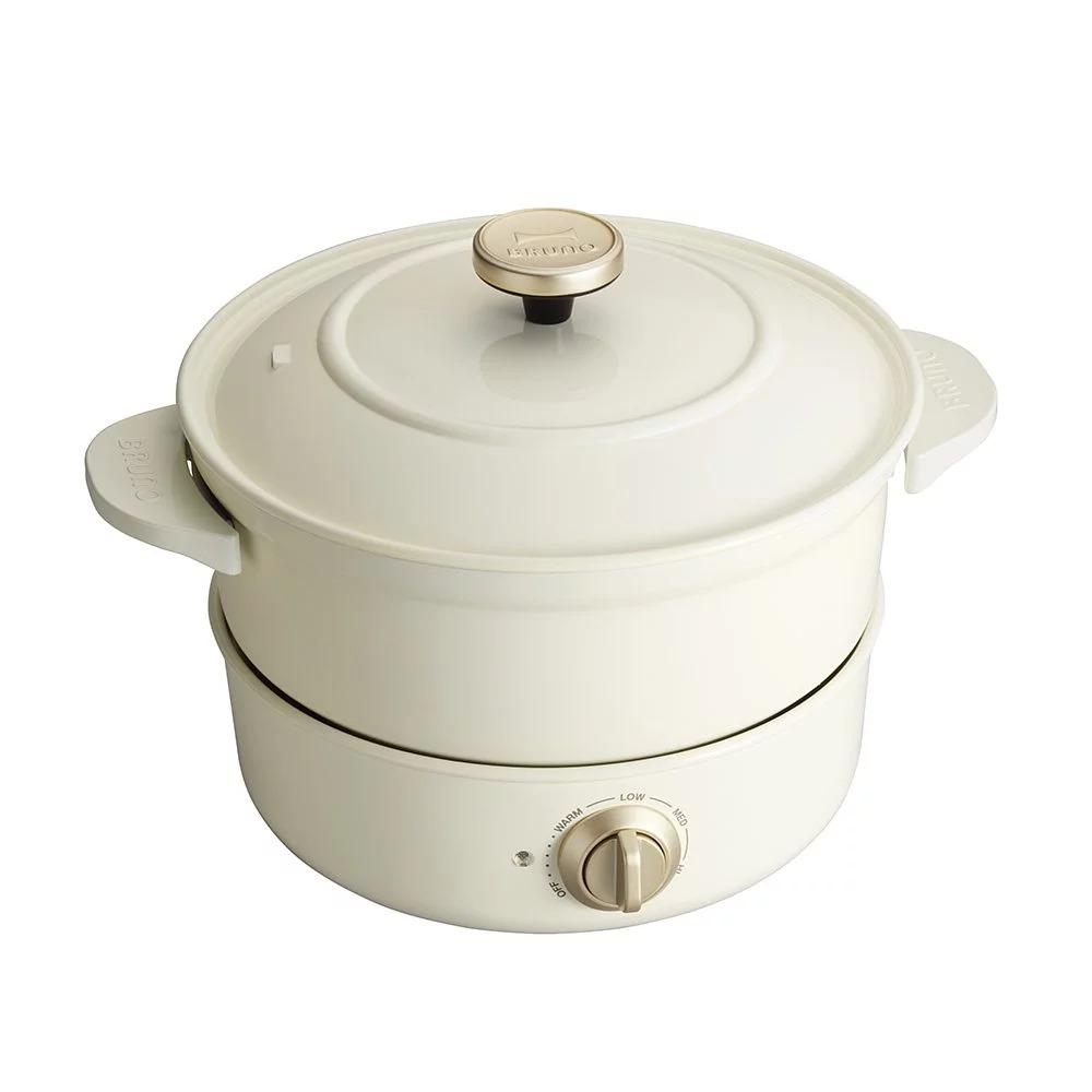 5%回饋【日本BRUNO】萬能調理鍋(象牙白)BOE029公司貨