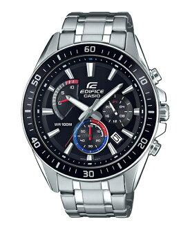 CASIO EDIFICE EFR-552D-1A3賽車儀表概念三眼腕錶/黑面47mm